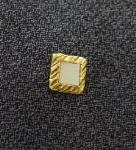 Mother of Pearl Tie Pin with Deep Gold Plated Surround - Vintage Tie Tack (SOLD)